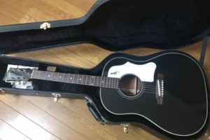 お気に入りのアコギ【2015年製 Gibson Custom Shop J-45 Adjustable Saddle Ebony Black VOS 】