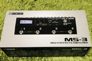 【レビュー】これは流行る!マルチエフェクターの新定番!BOSS MS-3を購入しました!