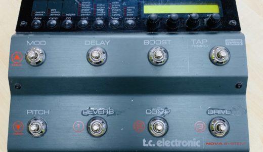 【レビュー】TC ELECTRONIC NOVA SYSTEMだけで歪み系も空間系も音作りは完結するよ