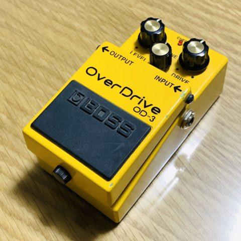 【動画あり】オーバードライブの大定番、BOSS OD-3は倍音と低音に優れた歪みペダル【レビュー】