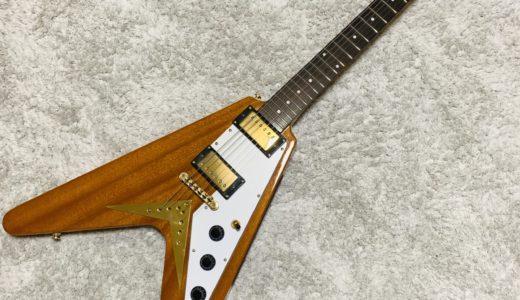 【レビュー】元祖変形ギター! Epiphone 1958 Korina Flying V 【コリーナV】