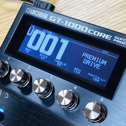 【レビュー】BOSSの最新マルチエフェクター「GT-1000 CORE」を購入しました!